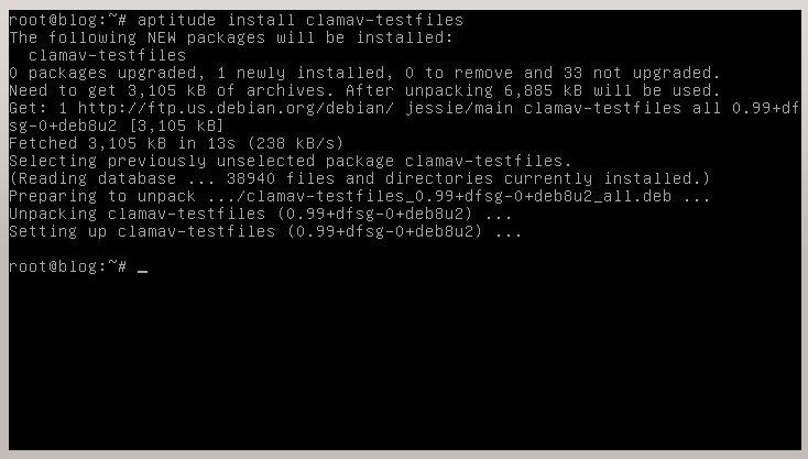 Instalación de archivos de testeo