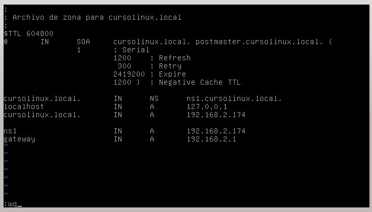 Configurar servidor DNS en Debian