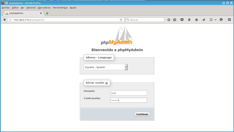 Bases de datos MySQL con phpMyAdmin