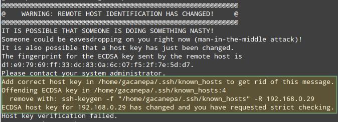 Previniendo ataques por Hombre en el medio ante una conexión SSH