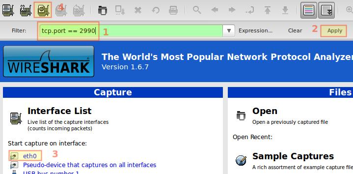 SSH y Wireshark - Configurando la captura de datos