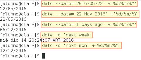 Más ejemplos del uso de date