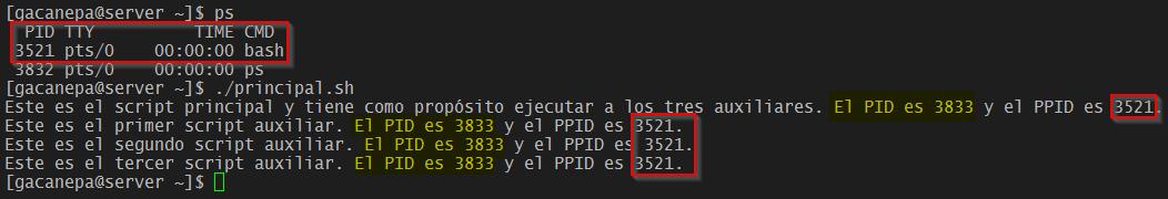 Ejecutar scripts auxiliares desde uno principal
