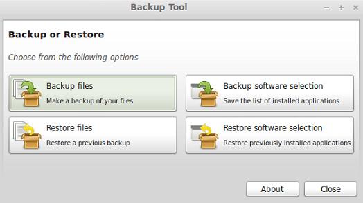 Hacer backups en Linux Mint con el asistente