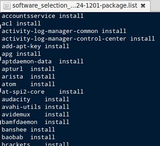 Hacer backups en Linux Mint: lista de aplicaciones instaladas