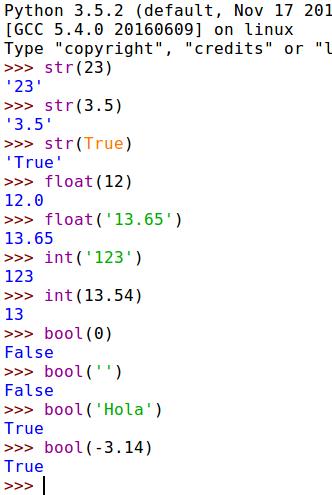 Conversión de tipos de datos en Python