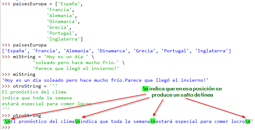 Diferencias entre listas y strings: mejorando el formato mediante expresiones multilínea