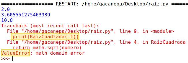Ejemplo sin utilizar try y except en Python