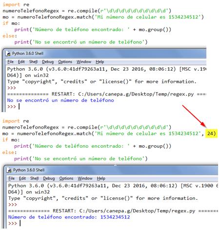 El módulo re en Python: uso de la función match