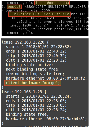 Asignar una IP fija mediante DHCP en Linux